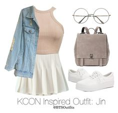 """Inspired Outfit for KCON: Jin"" by btsoutfits ❤ liked on Polyvore featuring Retrò and Proenza Schouler"