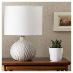 Herringbone Ceramic Table Lamp - Gray - Threshold™ : Target