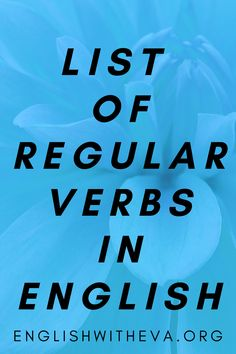 English Grammar Online, English Verbs, Vocabulary, Learning, Verbs In English, Studying, Teaching, Vocabulary Words, Onderwijs