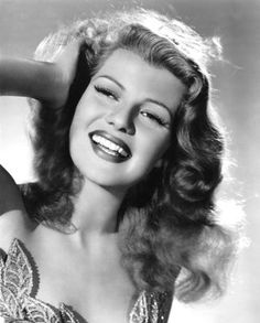 Rita Hayworth, hollywood beauty. She reminds of my friend, Sherry.