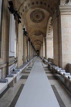 The catwalk at Louvre - The architectural inspiration behind the Concava Ottoman for @hancockandmoore coming spring 2013