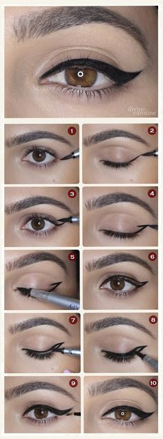 Different and Easy Ways to Apply Eyeliner.How to Apply Liquid Eyeliner for Beginners .Pencil Eyeliner Tricks to Make Your Eyes Pop .How to Apply Eyeliner Perfectly: Step by Step Tutorial.How to choose and apply eyeliner .Using eyeliner How To Do Winged Eyeliner, Winged Eyeliner Tutorial, Winged Liner, Perfect Eyeliner, Cat Eye Makeup Tutorial, Simple Eyeliner Tutorial, Eye Wing Tutorial, Perfect Makeup, How To Do Eyebrows