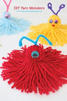 DIY Yarn Monsters Tutorial