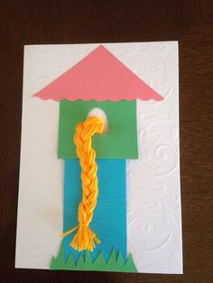 Rapunzel or Tangled birthday card - for sweet 4 year old Mahalia's Tangled themed birthday