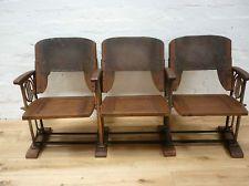 1930-1950 OLD VINTAGE GENUINE CINEMA SEATS x3