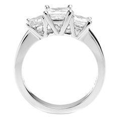 1 3/4 CTW Princess Cut Diamond Engagement Ring by MajestyDiamonds1, $2529.00