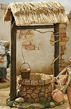 Town Well for Fontanini Christmas Nativity Collection - 32624305 Christmas Nativity Scene, Christmas Crafts, Christmas Decorations, Christmas Villages, Clay Crafts, Diy And Crafts, Fontanini Nativity, Jardin Decor, Fairy Garden Houses