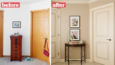 Faux-Panel Painted Door: We could paint the doors instead of buying… The house does have these before doors.