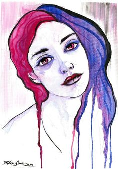 Resultado de imagen para watercolor self portraits