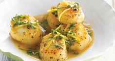 Sint-jacobsvruchten met basilicumsaus - uit: Gezond koken in een handomdraai - Weight Watchers | Lannoo