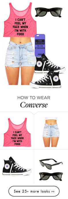 """""""They see me Rollin they hatin"""" by preppygirl13 on Polyvore featuring Ray-Ban and Converse"""