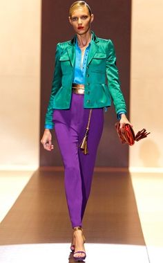 An incredible explosion of color, courtesy of Gucci Spring 2011.