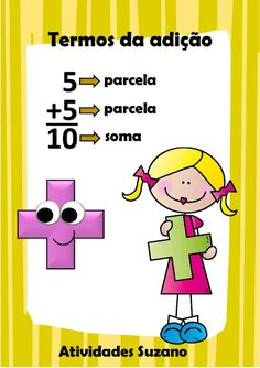 Cartazes operações matemáticas - Atividades Adriana