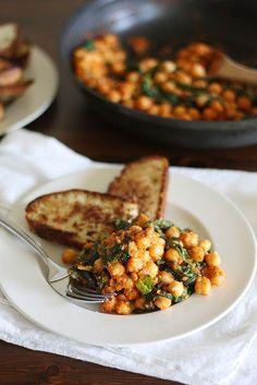 Spinach-Chickpea Sau