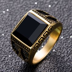 Valknut soldier eagle coat of Air Force ring men gold ring jewelry for men Mens Gemstone Rings, Mens Gold Bracelets, Mens Gold Rings, Sterling Silver Mens Rings, Rings For Men, Fashion Rings, Fashion Jewelry, Mens Ring Designs, Gents Ring
