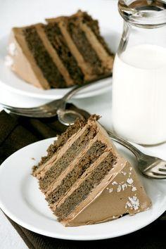 Caramelo salgado do bolo de chocolate por Melody07
