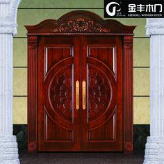 Source Hot sale exterior entry front wooden composite main door designs double door on m.alibaba.com