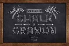 Check out PS Brushes: Chalk & Crayon vol.2 by Pixelwise Co. on Creative Market