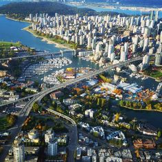 Granville Street Bridge and Burrard Bridge False Creek, City of Vancouver, British Columbia, Canada. Vancouver Bc Canada, Vancouver Travel, Vancouver City, Vancouver British Columbia, Vancouver Island, Canada Canada, Tour Du Canada, Alberta Canada, Paisajes