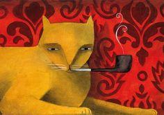 The Smoking Cat by Thesmokingcat on Etsy, €25.00