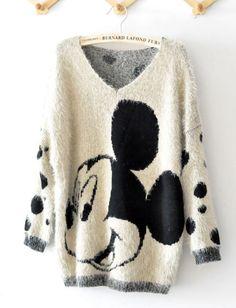 Mickey Mouse Cartoon Ma Haimao Sweater