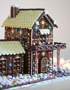 Gingerbread house inspiration with links to recipe, how to draw a template, how to assemble and tips for decorating.
