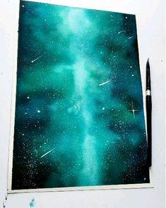 Huge galaxy painting - Huge watercolor galaxy painting Source by rubenlemke - Simple Canvas Paintings, Small Canvas Art, Easy Paintings, Watercolor Galaxy, Watercolor Paintings, Watercolor Night Sky, Space Watercolor, Pastel Paintings, Watercolor Canvas
