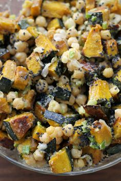 Roasted Squash & Chickpea Salad