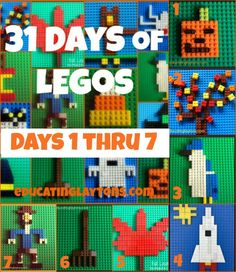 Does your child love LEGOs? Educating Laytons has 31 Fall LEGO ideas that include stem education, plus 2 free science worksheets on reptiles and spiders (s