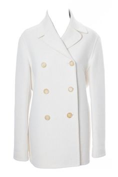 Vintage White Wool Celine Coat