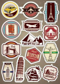#World Famous Scenic Spot Signs sticker on a laptop luggage…