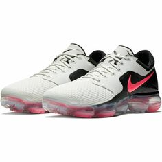 6fa55b67399 New Nike Air VaporMax Running Shoes - Light Bone Hot Punch Black By  removing any layers in between and providing cushioning only where needed