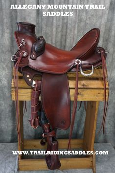 Slick seat wade saddle by Allegany mountain Trail Saddles! Custom fit comfort for you and your horse!