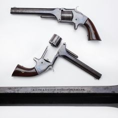 "Smith  Wesson No. 2 Revolver - SW offered both .22 and .32 caliber single-action revolvers during the American Civil War period.  The larger sized. 32 or No. 2 revolver was also called the ""Old Army"" and was actually made from 1861 to 1874.  Who carried one?  General George Custer and ""Wild Bill"" Hickock are both known to have owned examples of these six-shooters.  Bear in mind the smaller No. 1 model in .22 was a seven-shot revolver. At the NRA Museums in Fairfax, VA and in Springfield, MO."