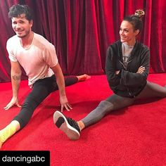 #Repost @dancingabc with @repostapp ・・・ Getting jazzed for #HalloweenNight! Camera blocking = our #SundayFunday at #DWTS. 😋💪🏼