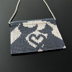 Bead loomed Lovecats - A HeatherCat piece by CatsWire on DeviantArt
