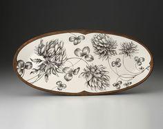 Laura Zindel Design - Fish Platter: Clover Plant, $285.00 (http://www.laurazindel.com/fish-platter-clover-plant/)