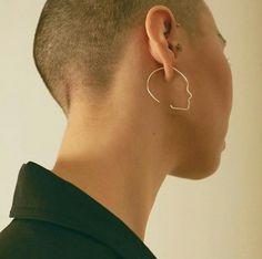 Silhouette earring