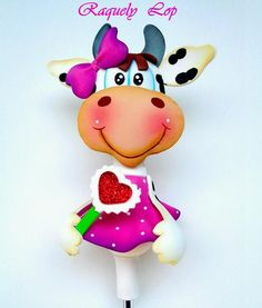 ARTESANIAS EL RINCON DE LOS SUEÑOS Foam Crafts, Diy And Crafts, Pencil Toppers, Corpus Christi, Logo Inspiration, Hello Kitty, Cow, Sewing Projects, Make It Yourself