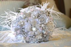 Blush Heirloom Brooch Bouquet by Naoki Jewelry