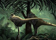 Indeterminate dromaeosaurids by Román García