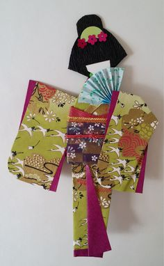 Washi Ningyo traditional Japanese Kimono paper by www.facebook.com/kitspaperworld