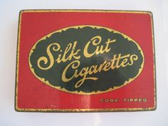 50 new cigarette tins added to my #etsy shop today see more like this:Silk Cut Cork Tipped cigarette tin (50/empty) by C.W.S c.1930 http://etsy.me/2CU6cAU #vintage #collectables #cigarettetin #tobaccocollectibles