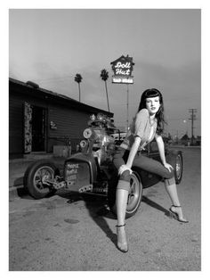 Bad girls and hot rods - go together like peanut butter and chocolate