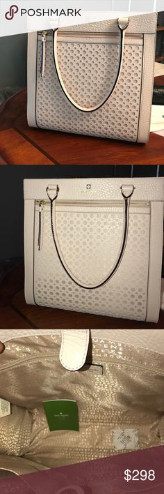 Gorgeous Leather Kate Spade Purse OFFERS WELCOMED ‼️NWT, never used, neutral off white color goes with everything, perfect for work or school, if you like it make an offer you never know, use offer button, take advantage of CCO‼️ kate spade Bags Shoulder Bags
