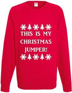 Unisex Christmas Jumper Gift Novelty Joke Jumper Top This Is My Christmas