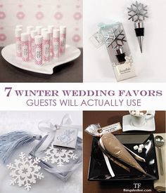 Things Festive Weddings & Events: 7 Winter Wedding Favors Guests Will Actually Use
