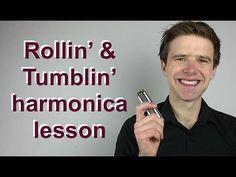 Rollin' & Tumblin' (Cream, Muddy Waters blues harp lesson) on C harmonica - YouTube