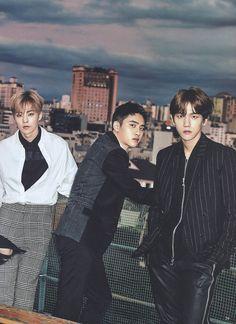 Xiumin, D.O, and Baekhyun for Vivi Magazine