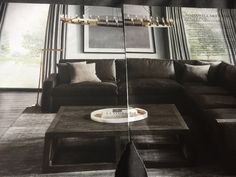 Restoration Hardware Catalog, Small Spaces, Couch, Furniture, Ideas, Home Decor, Settee, Decoration Home, Sofa